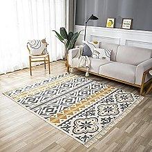Tappeto in cotone, tappeto vintage da interno con