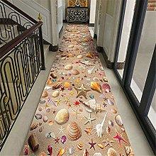 Tappeto in legno 3D floreale corridoio ingresso