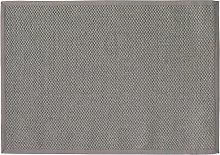 Tappeto intrecciato grigio in sisal 140 x 200 cm