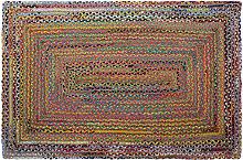 Tappeto Marrone Multicolore Iuta Cotone (160 x 230