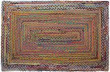 Tappeto Marrone Multicolore Iuta Cotone (200 x 290