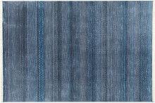 Tappeto moderno con motivi blu 160 x 230 cm INDIGO