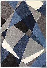 Tappeto moderno Design color blu con tessitura
