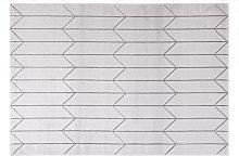 Tappeto moderno grigio con motivo geografico ARROWS