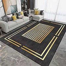 Tappeto nero dorato per soggiorno grande,