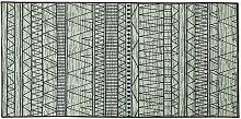 Tappeto nero/grigio 80 x 150 cm KEBAN