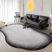 Tappeto ovale per camera da letto, tappetino da