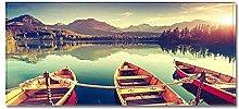 Tappeto Passatoia Barca sul lago 40cm X 60cm
