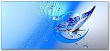 Tappeto Passatoia Cucina 40cm X 100cm farfalla blu