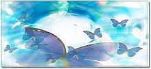 Tappeto Passatoia Cucina 60cm X 180cm Farfalla blu