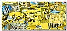 Tappeto Passatoia Edificio tecnologico giallo 40cm