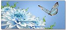 Tappeto Passatoia Farfalla azzurra 50cm X 80cm