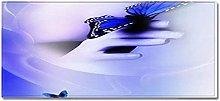 Tappeto Passatoia Farfalla blu scuro 40cm X 100cm