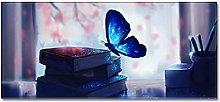 Tappeto Passatoia Farfalla luminosa blu 60cm X