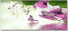 Tappeto Passatoia Farfalla rosa 40cm X 60cm
