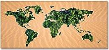 Tappeto Passatoia Mappa del mondo giallo 60cm X