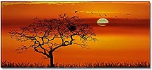 Tappeto Passatoia Tramonto del cielo rosso 50cm X