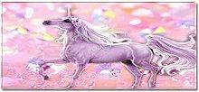 Tappeto Passatoia Unicorno rosa 5 50cm X 160cm