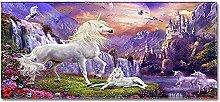 Tappeto Passatoia Unicorno viola della cascata