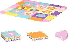 Tappeto Puzzle Bambini 25 Pezzi con Numeri Area
