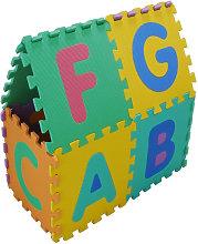 Tappeto Puzzle Eva lettere e numeri Tappetino