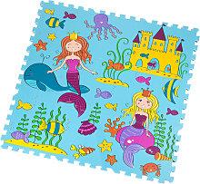 Tappeto Puzzle Eva Sirena Tappetino Gioco bambini