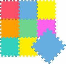 Tappeto Puzzle per Bambini Morbido Tappetino Gioco