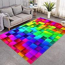 Tappeto Quadrati Colorati 160 x 230 cm super
