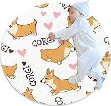 Tappeto rotondo Cani simpatici cartoni animati