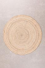 Tappeto rotondo in iuta naturale (Ø120) Crok