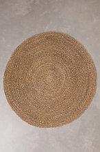 Tappeto rotondo in iuta naturale (Ø145 cm) Drak