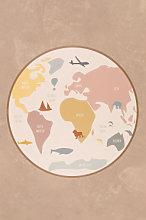 Tappeto rotondo in vinile (Ø150 cm) Nirar Kids A