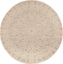 Tappeto rotondo naturale 160 cm MOZAIC