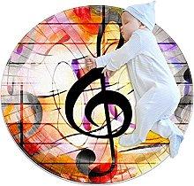 Tappeto rotondo Nota musicale a colori Tappetto