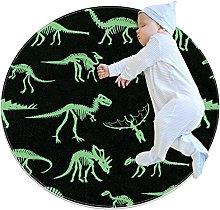 Tappeto rotondo Ossa di dinosauro Tappetto