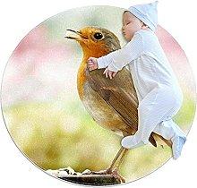 Tappeto rotondo uccello animale Tappetto