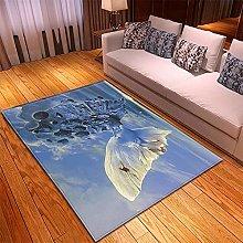 Tappeto Salotto -40x60cm Giallo Blu, Moderno