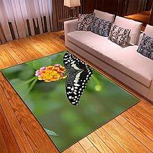 Tappeto Salotto Giallo Verde Nero 3D Modello,