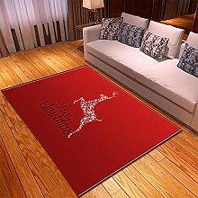 Tappeto Salotto Moderno 120X170cm Cervo Rosso