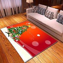 Tappeto Salotto Moderno 40X60cm Albero Rosso Verde