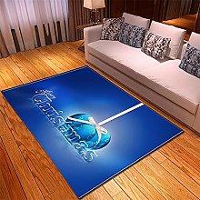 Tappeto Salotto Moderno 50X80cm Palloncino Blu