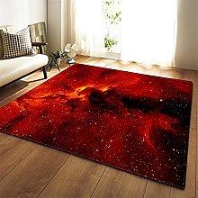 Tappeto Salotto Moderno Cielo stellato rosso