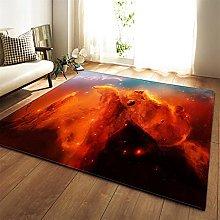 Tappeto Salotto Moderno Nuvole colorate di rosso