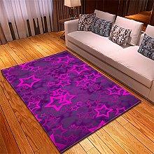 Tappeto Salotto Moderno Stelle viola Modello Stile