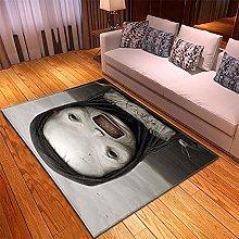 Tappeto Salotto Nero bianco 3D Modello, Tappeto