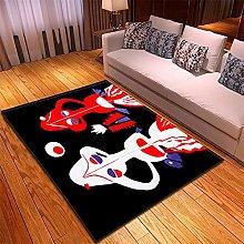 Tappeto Salotto Nero Rosso Bianco 3D Modello,