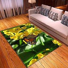 Tappeto Salotto Verde giallo 3D Modello, Tappeto
