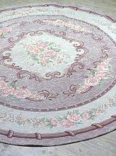 Tappeto shabby chic serie Vintage rose rotondo