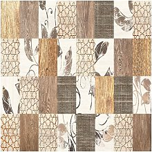Tappeto Stampato Brown Patchwork - Patchwork -