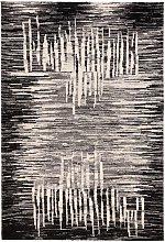 Tappeto stilizzato moderno con toni Nero/grigio